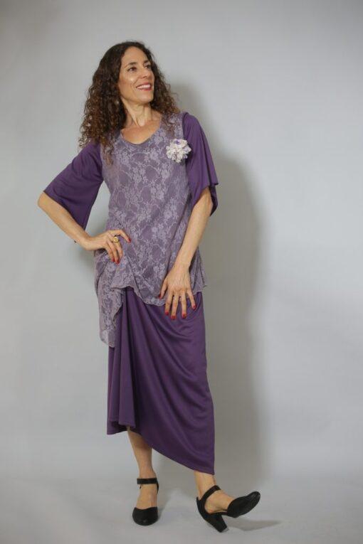 שמלת ערב קומות סגולה