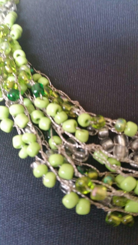 שרשרת חרוזים צבע ירוק