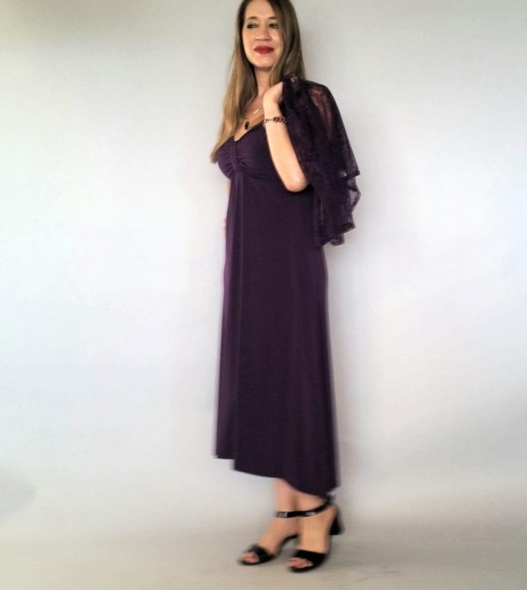 שמלת ערב שחורה עם כתפיות