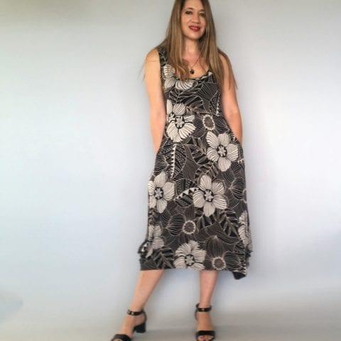 שמלה עלמא צבע שחור בז
