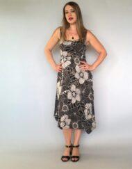 שמלה עלמא שחור בז