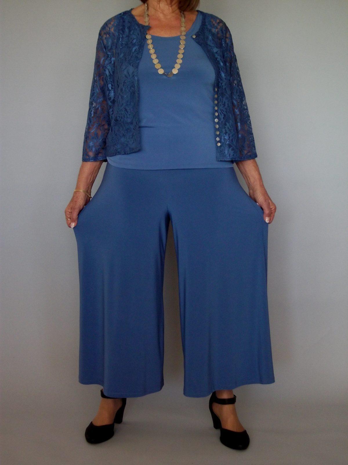 חצאית מכנסיים,כחול ג'ינס בהיר