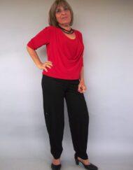 חולצת רבידה אדומה