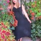 שמלה שחורה עם כתפיות אלגנטי
