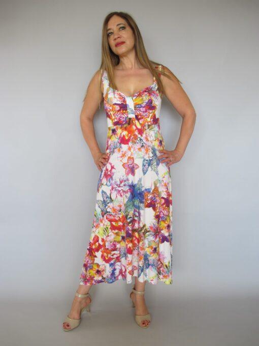 שמלה קייצית פרחונית אופייט