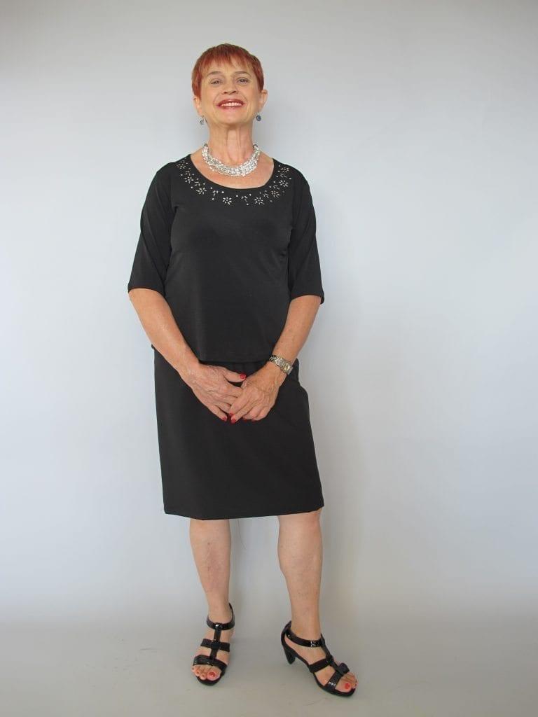 חצאית ברך שחורה