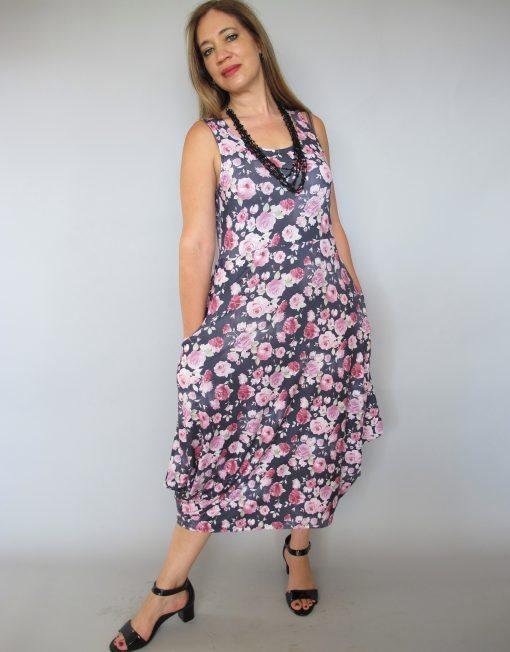 שמלת 'עלמא' פרחים