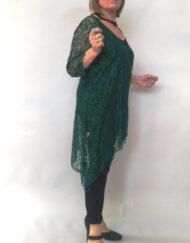 טוניקה תחרה בצבע ירוק צד
