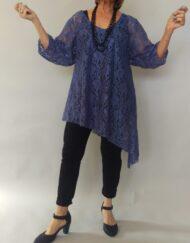 טוניקה תחרה כחול ג'ינס