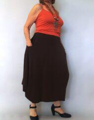 חצאית עלמא חומה