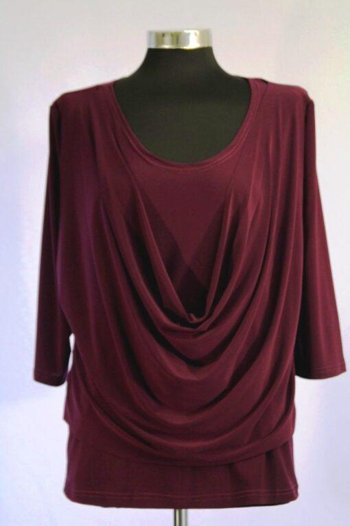 חולצת רבידה סגול