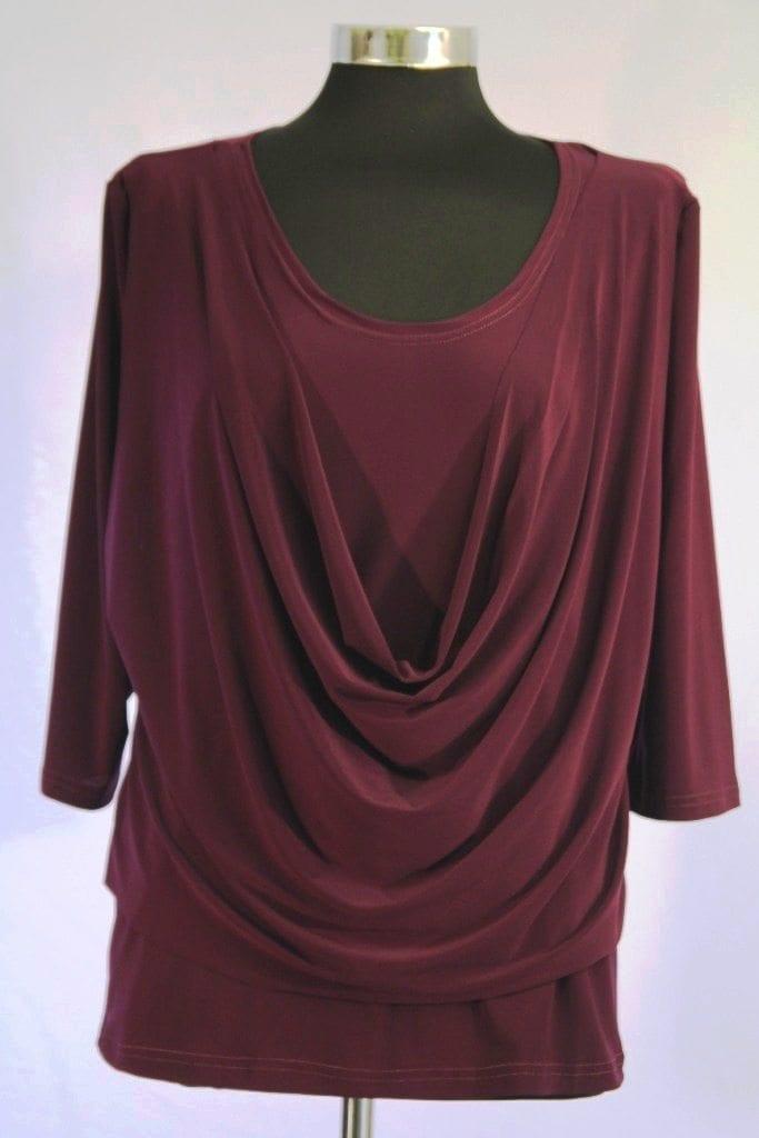 חולצת רבידה סגולה