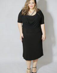 שמלה שחורה מידות גדולות