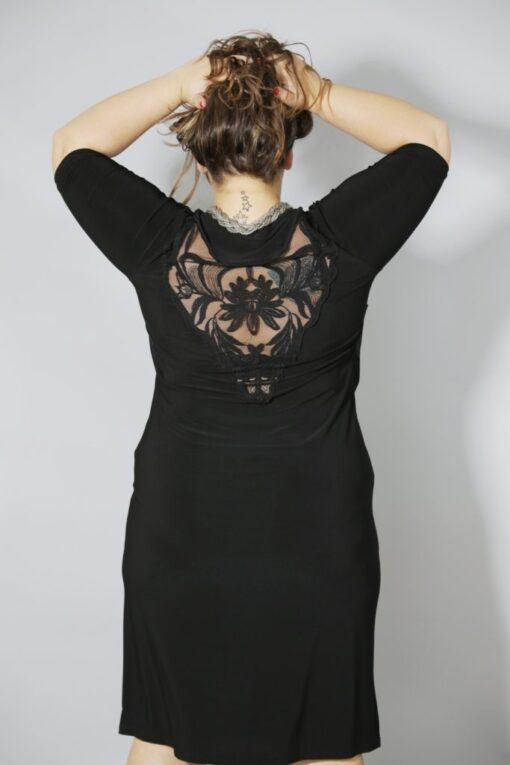 שמלת רבידה מוטיב גב